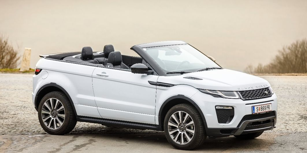 test range rover evoque cabrio werden cabrios jetzt auch zu suvs. Black Bedroom Furniture Sets. Home Design Ideas