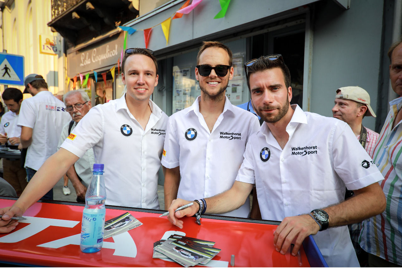 Die Sieger:  Christian Krognes, Tom Blomqvist, Philipp Eng (BMW Team Walkenhorst)