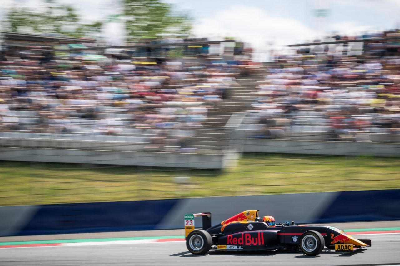 In der Formel brillierte Red-Bull-Junior Hauger, der...